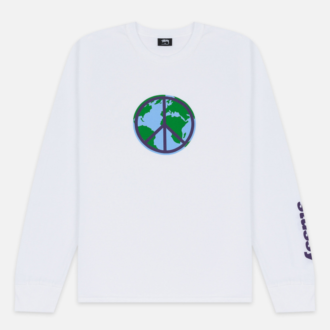 Мужской лонгслив Stussy World Peace White