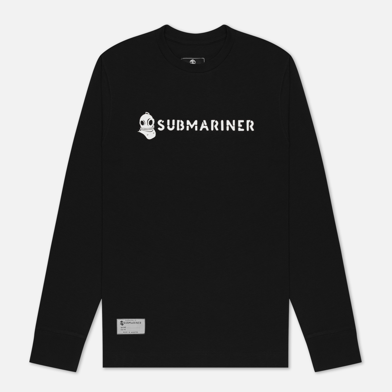 Мужской лонгслив Submariner Basic Logo Print Black
