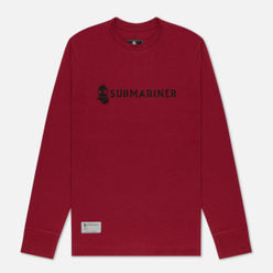 Мужской лонгслив Submariner Basic Logo Print Bordeaux