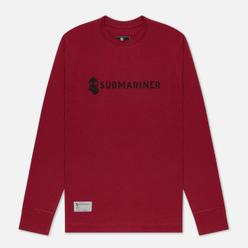 Мужской лонгслив Submariner Basic Logo Print Bordeaux