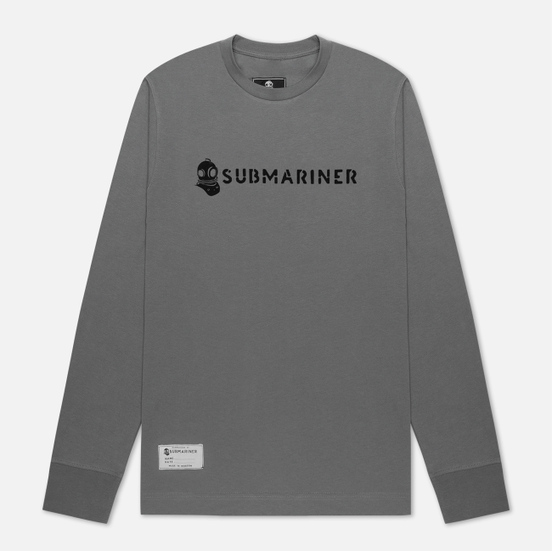 Мужской лонгслив Submariner Basic Logo Print Grey