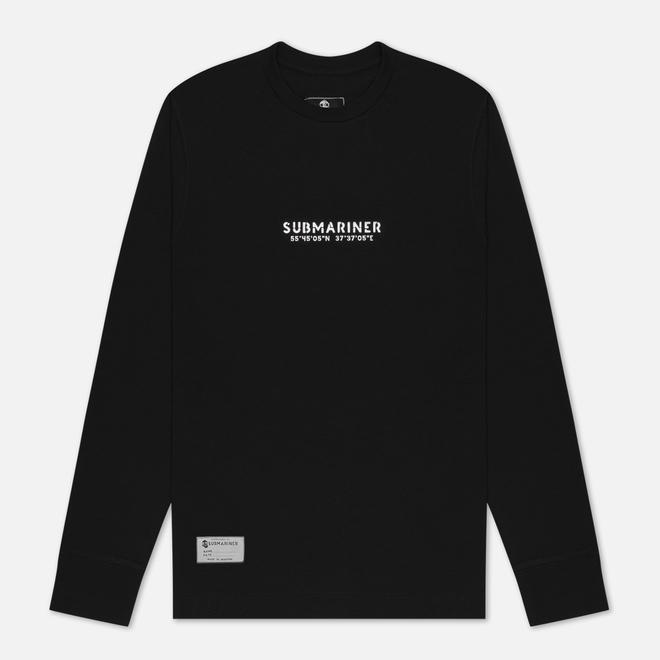 Мужской лонгслив Submariner Coordinates Logo Print Black