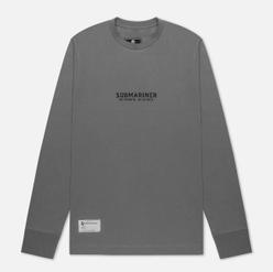 Мужской лонгслив Submariner Coordinates Logo Print Grey