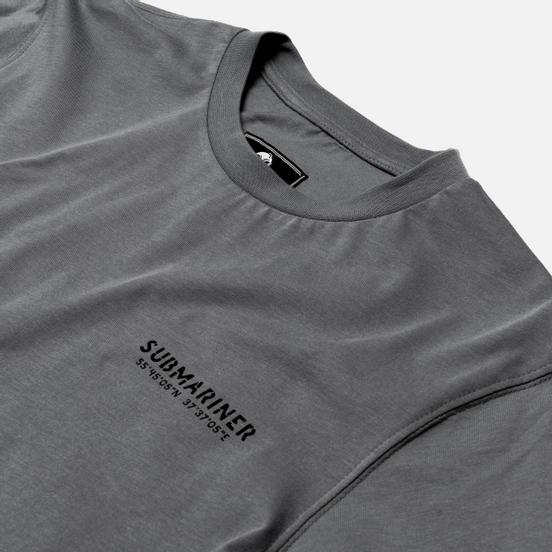 Мужской лонгслив Submariner Main Logo Print Grey