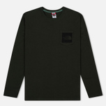 Мужской лонгслив The North Face Fine Pocket LS Rosin Green фото- 0