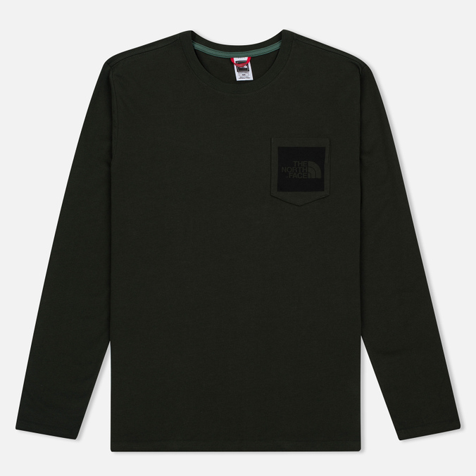 Мужской лонгслив The North Face Fine Pocket LS Rosin Green