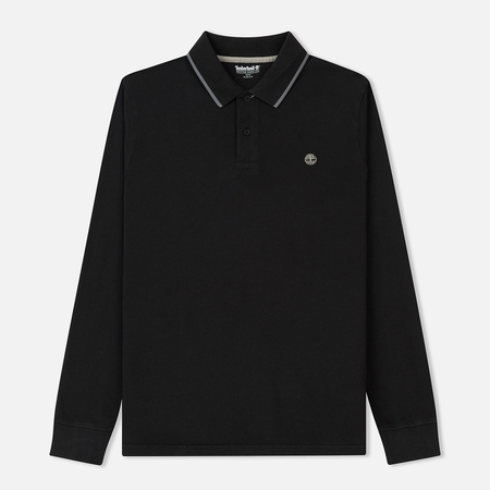Мужской лонгслив Timberland Millers River Polo Slim Fit Black