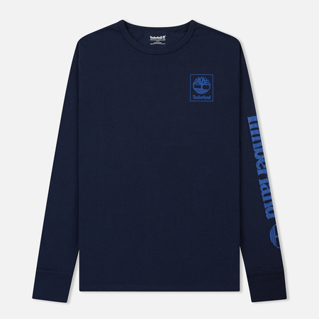 Мужской лонгслив Timberland Triple Logo Graphic Navy