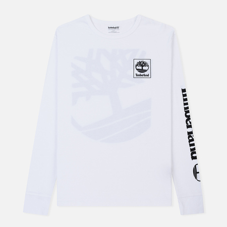 Мужской лонгслив Timberland Triple Logo Graphic White