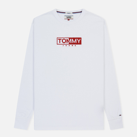 Мужской лонгслив Tommy Jeans Embroidered Logo Classic White