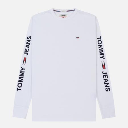 Мужской лонгслив Tommy Jeans Essential Logo Classic White