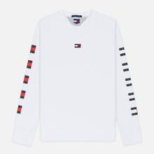 Мужской лонгслив Tommy Jeans Flag Repeat Classic White фото- 0