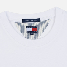 Мужской лонгслив Tommy Jeans Flag Repeat Classic White фото- 1