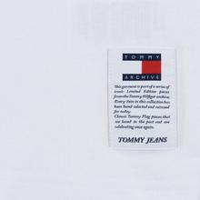 Мужской лонгслив Tommy Jeans Flag Repeat Classic White фото- 3