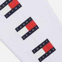 Мужской лонгслив Tommy Jeans Flag Repeat Classic White фото- 5