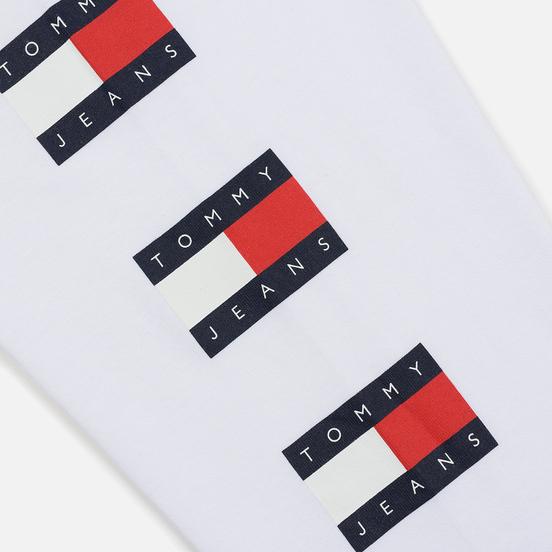 Мужской лонгслив Tommy Jeans Flag Repeat Classic White