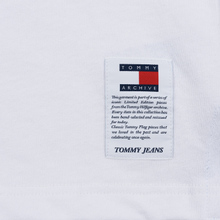 Мужской лонгслив Tommy Jeans Flag Rugby Polo Classic White/Multi фото- 2