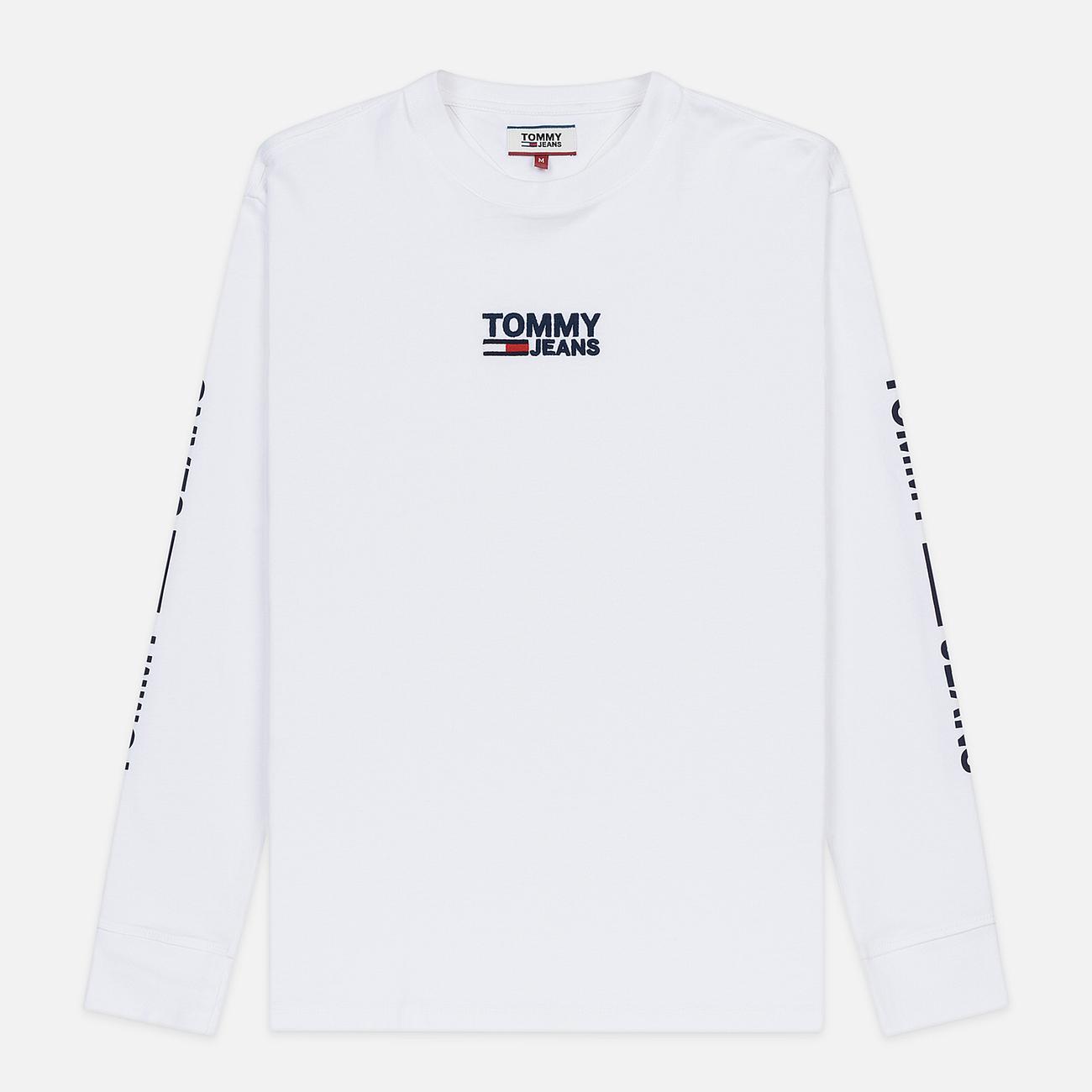Мужской лонгслив Tommy Jeans Logo Corp Regular Fit Classic White