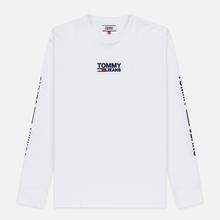 Мужской лонгслив Tommy Jeans Logo Corp Regular Fit Classic White фото- 0