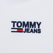 Мужской лонгслив Tommy Jeans Logo Corp Regular Fit Classic White фото- 2