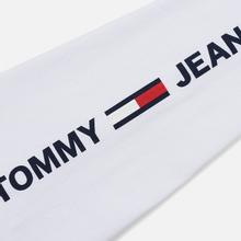 Мужской лонгслив Tommy Jeans Logo Corp Regular Fit Classic White фото- 3