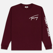 Мужской лонгслив Tommy Jeans Sleeve Logo Burgundy фото- 0