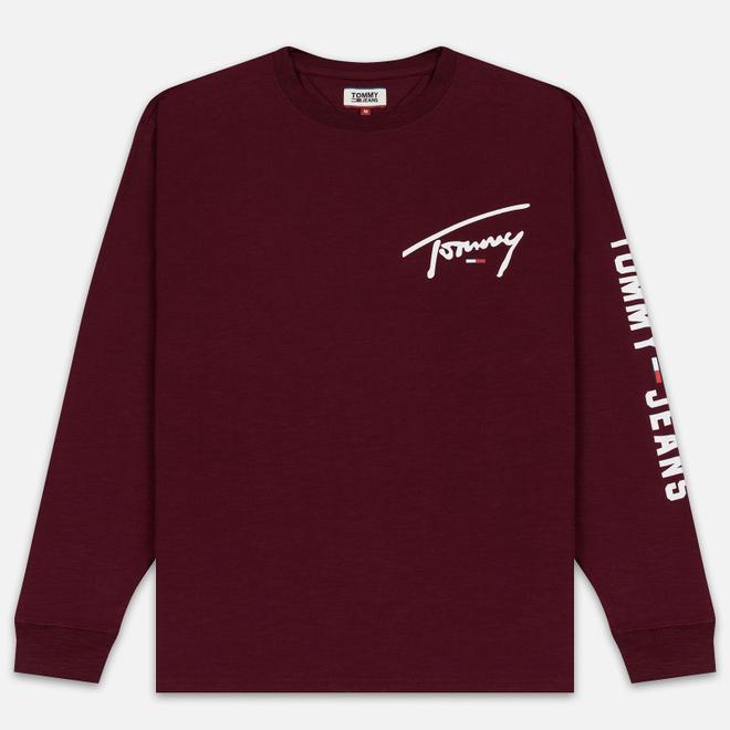 Мужской лонгслив Tommy Jeans Sleeve Logo Burgundy