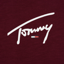 Мужской лонгслив Tommy Jeans Sleeve Logo Burgundy фото- 2