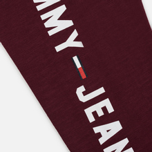 Мужской лонгслив Tommy Jeans Sleeve Logo Burgundy фото- 4