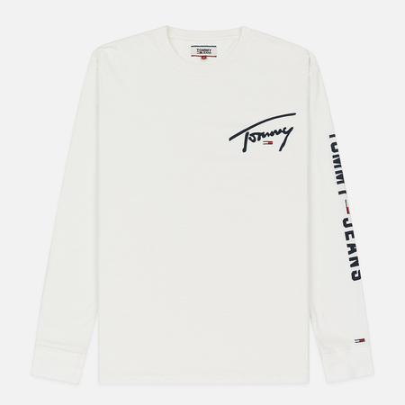 Мужской лонгслив Tommy Jeans Sleeve Logo Classic White