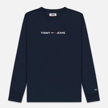 Мужской лонгслив Tommy Jeans Small Logo Black Iris фото- 0