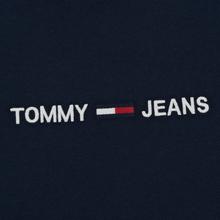 Мужской лонгслив Tommy Jeans Small Logo Black Iris фото- 2