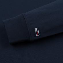 Мужской лонгслив Tommy Jeans Small Logo Black Iris фото- 3