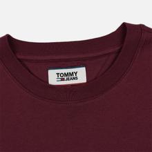 Мужской лонгслив Tommy Jeans Small Logo Burgundy фото- 1