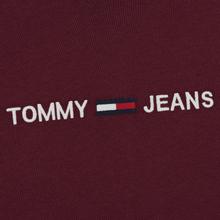 Мужской лонгслив Tommy Jeans Small Logo Burgundy фото- 2
