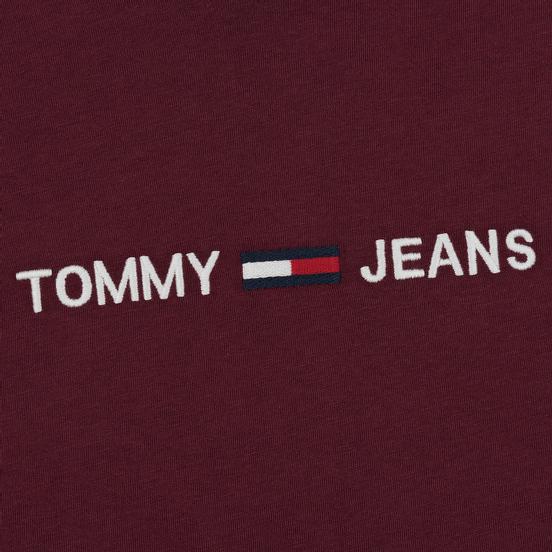 Мужской лонгслив Tommy Jeans Small Logo Burgundy