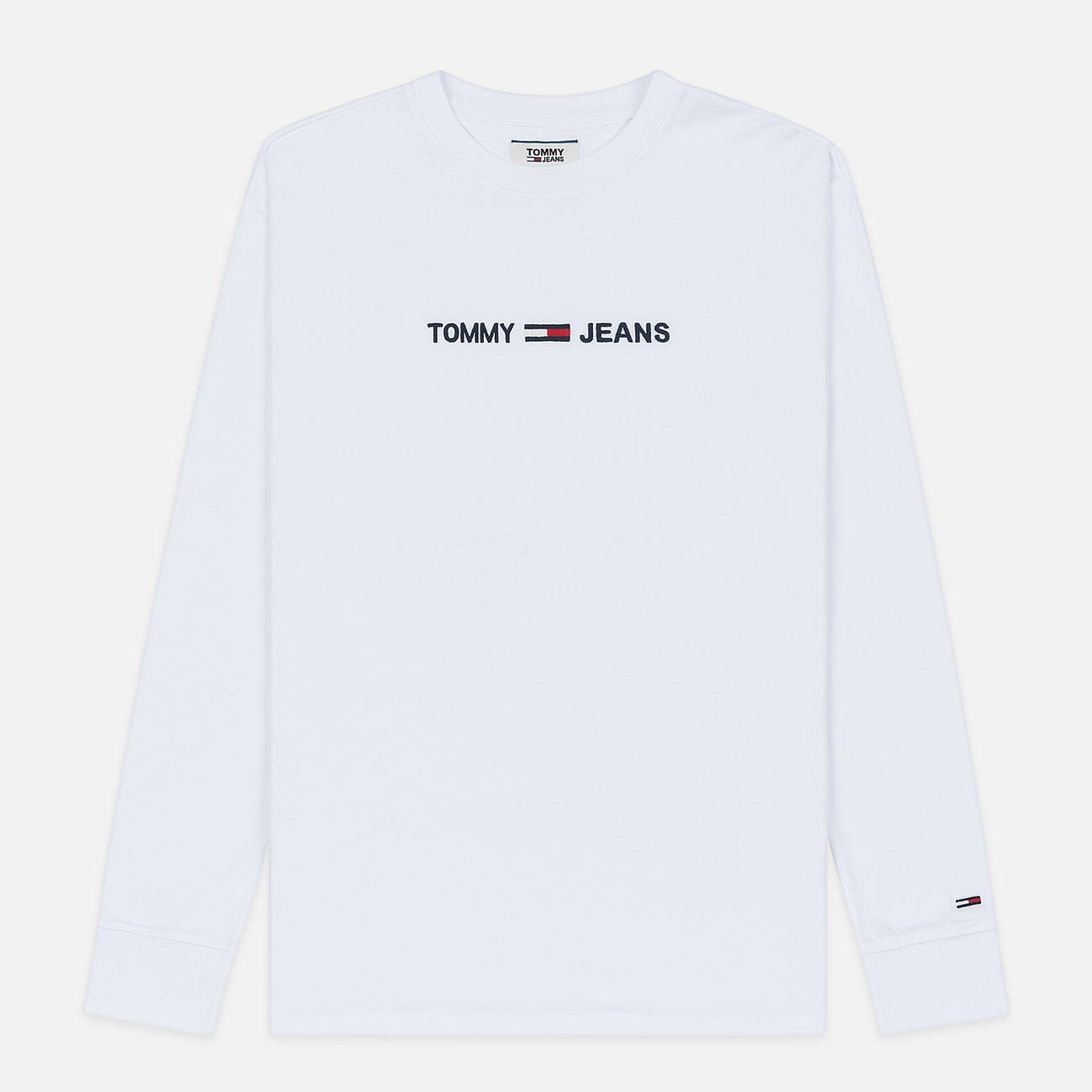 Мужской лонгслив Tommy Jeans Small Logo Classic White