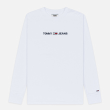 Мужской лонгслив Tommy Jeans Small Logo Classic White фото- 0