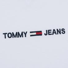 Мужской лонгслив Tommy Jeans Small Logo Classic White фото- 2