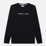 Мужской лонгслив Tommy Jeans Small Text Black фото- 0
