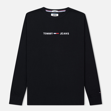 Мужской лонгслив Tommy Jeans Small Text Black