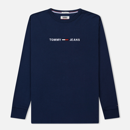 Мужской лонгслив Tommy Jeans Small Text Black Iris