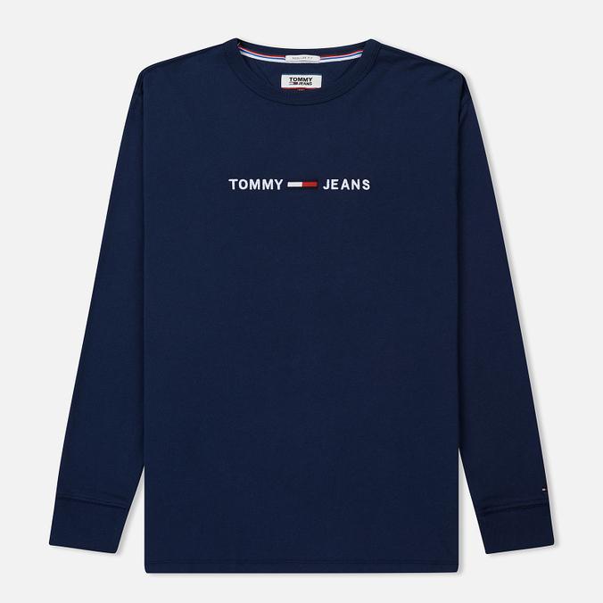 Мужской лонгслив Tommy Jeans Small Text Black Iris