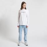 Мужской лонгслив Tommy Jeans Small Text Classic White фото- 1