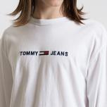 Мужской лонгслив Tommy Jeans Small Text Classic White фото- 3