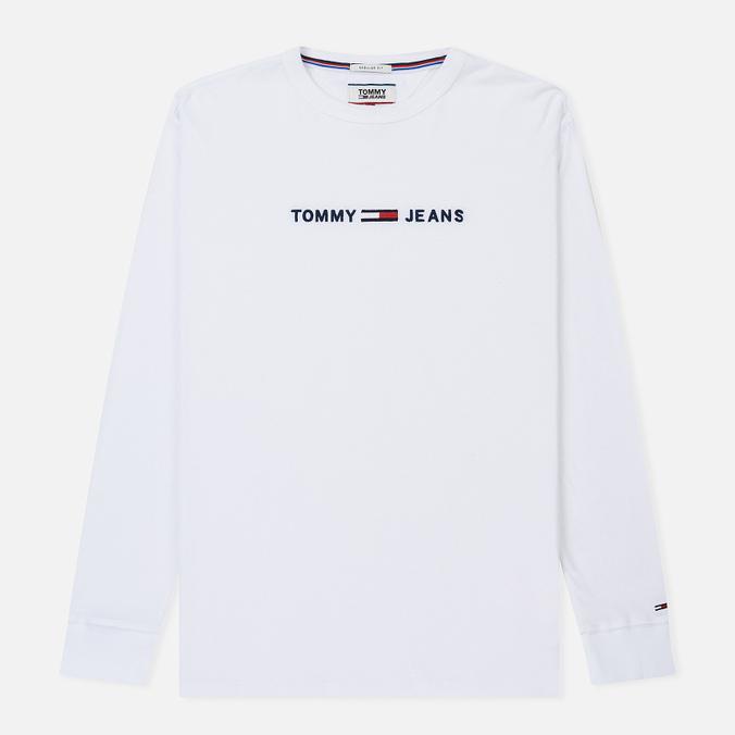 Мужской лонгслив Tommy Jeans Small Text Classic White