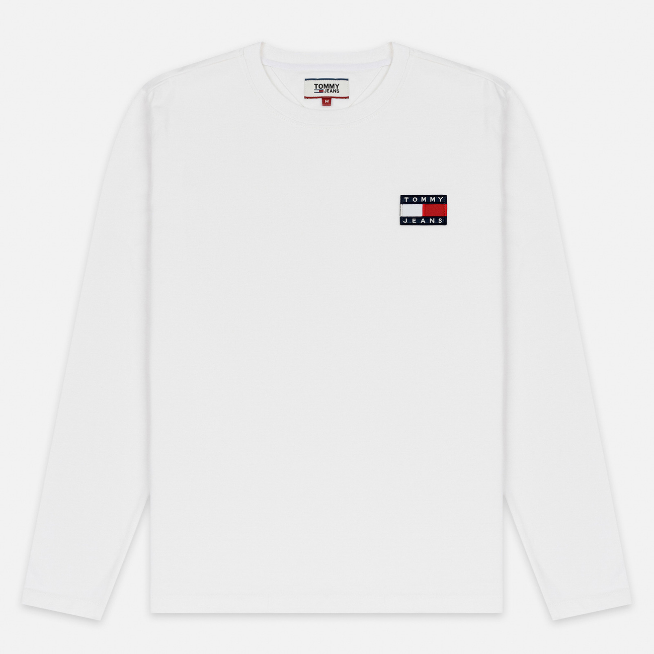 Мужской лонгслив Tommy Jeans Tommy Badge Classic White