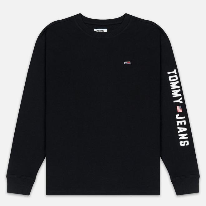 Мужской лонгслив Tommy Jeans US Flag Black