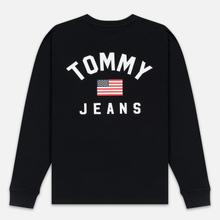 Мужской лонгслив Tommy Jeans US Flag Black фото- 4