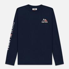 Мужской лонгслив Tommy Jeans USA Mountain Logo Relaxed Fit Black Iris фото- 0